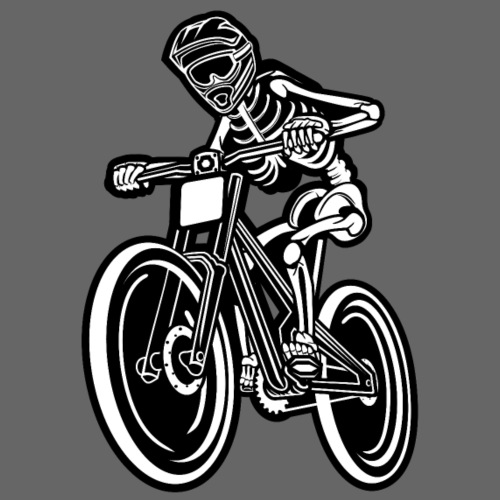 BMX / Mountain Biker 04_schwarz weiß - Männer Premium T-Shirt