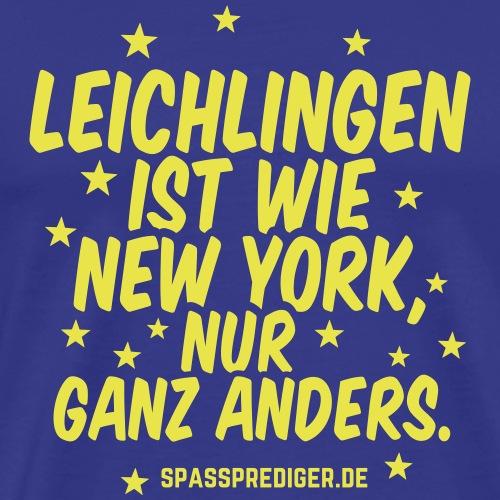 Leichlingen (Rheinland) T Shirt Spruch New York - Männer Premium T-Shirt