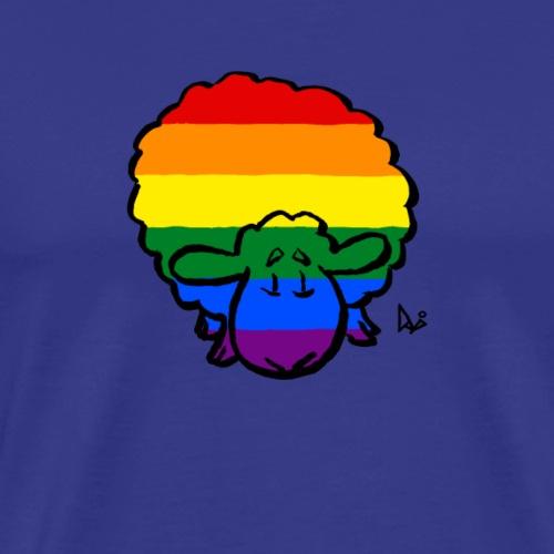 Rainbow Pride Sheep - Premium-T-shirt herr
