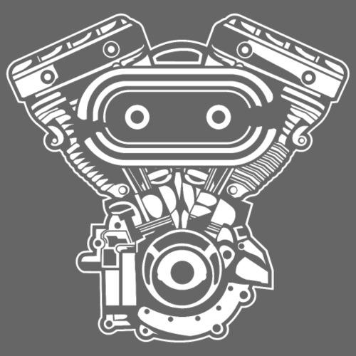 Motorrad Motor / Engine 02_weiß - Männer Premium T-Shirt