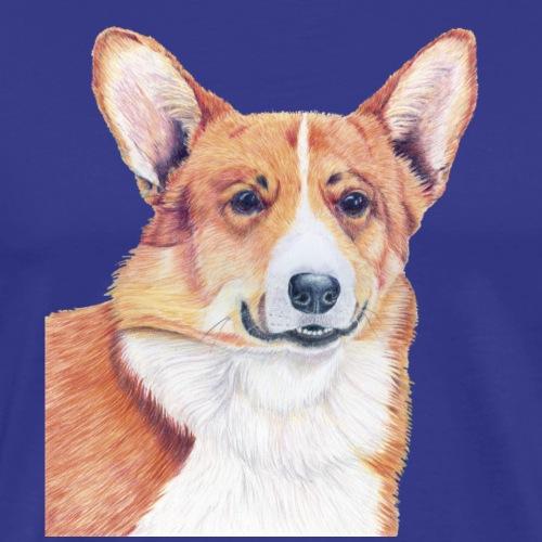 welsh corgi pembroke - Herre premium T-shirt
