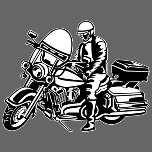Chopper / Motorrad 05_schwarz weiß - Männer Premium T-Shirt