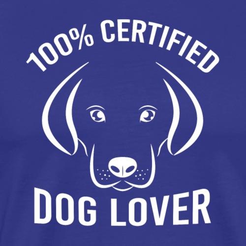 Zertifizierte Hundeliebhaber - Männer Premium T-Shirt