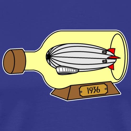 Zeppelin Luftschiff Flaschenschiff 1936 - Männer Premium T-Shirt