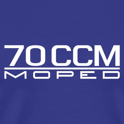 70 ccm Moped Emblem - Men's Premium T-Shirt