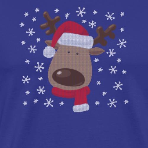 Rentier Ugly Christmas Design. Super süß. - Männer Premium T-Shirt