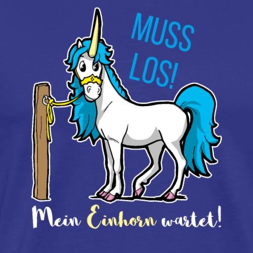 Dessin drôle de licorne disant bande dessinée cadeau - T-shirt Premium Homme