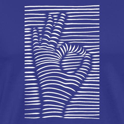 3D Ok Symbol - Männer Premium T-Shirt