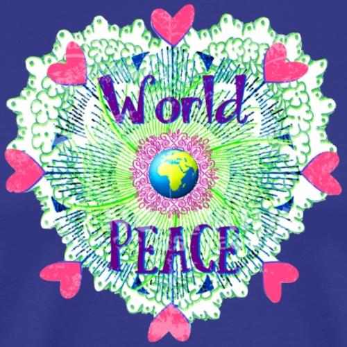 Herzen für Weltfrieden - Männer Premium T-Shirt