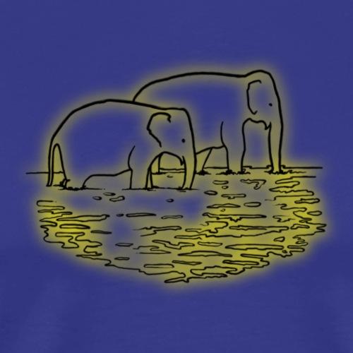 Elefanten beim Baden Asien Wasser - Männer Premium T-Shirt