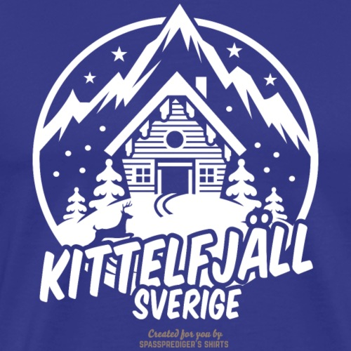 Kittelfjäll Ski Resort T Shirt Design - Männer Premium T-Shirt