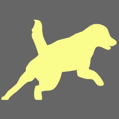 Apportering till vardag och fest gul hund - Premium-T-shirt herr