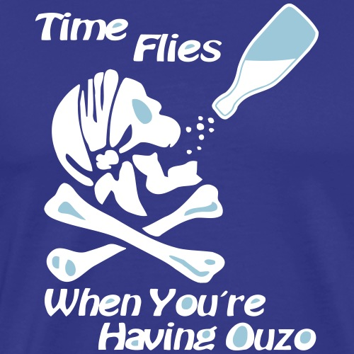 Time Flies Ouzs Shirt - Männer Premium T-Shirt