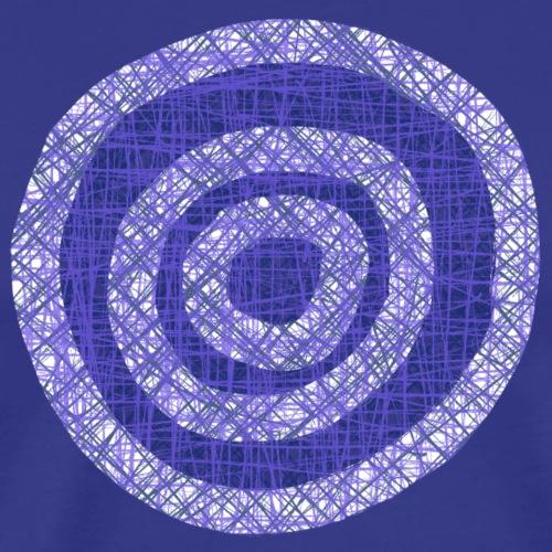 Scribbled circles 001 - Mannen Premium T-shirt