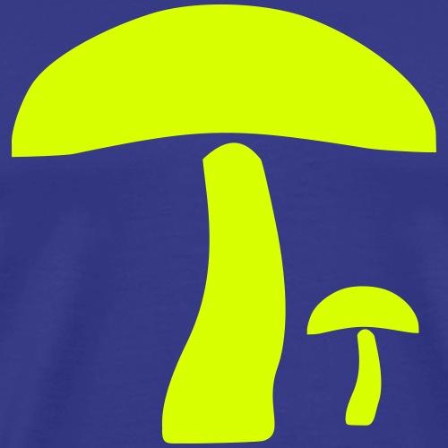 Zwei Pilze Silhouette - Männer Premium T-Shirt