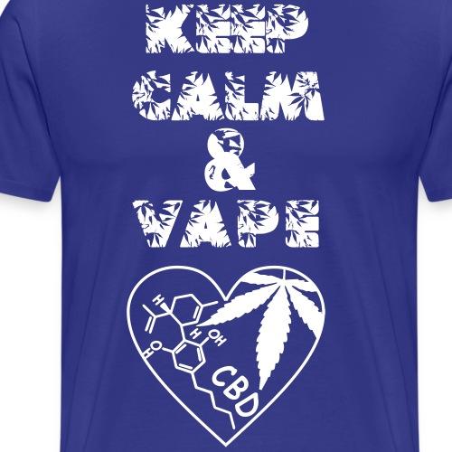 Keep Calm & Vape CBD - Maglietta Premium da uomo