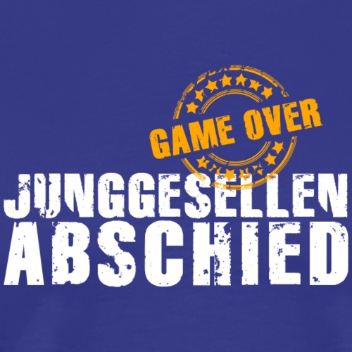 Junggesellenabschied JGA game over Polterabend - Men's Premium T-Shirt