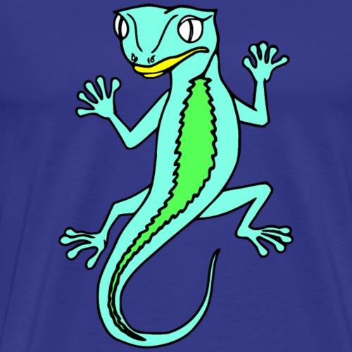 Milaino Face to Face Real lizards - Men's Premium T-Shirt
