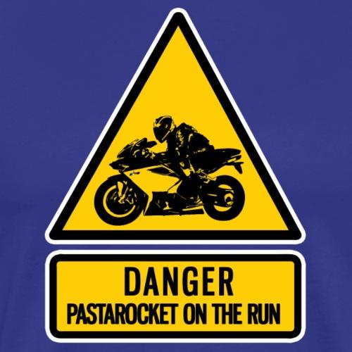 danger: pastarocket on the run - Men's Premium T-Shirt