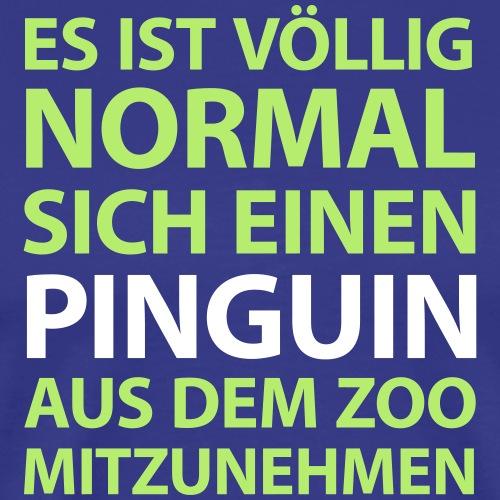 ein Pinguin aus dem Zoo Vogel Kuscheltier Arktis - Men's Premium T-Shirt