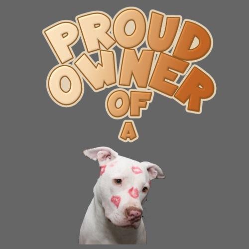 PROUD OWNER OF A Pitbull Braun - Männer Premium T-Shirt