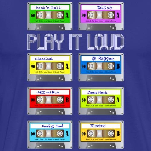 play it loud Music Cassette Tape Vintage analog - Men's Premium T-Shirt