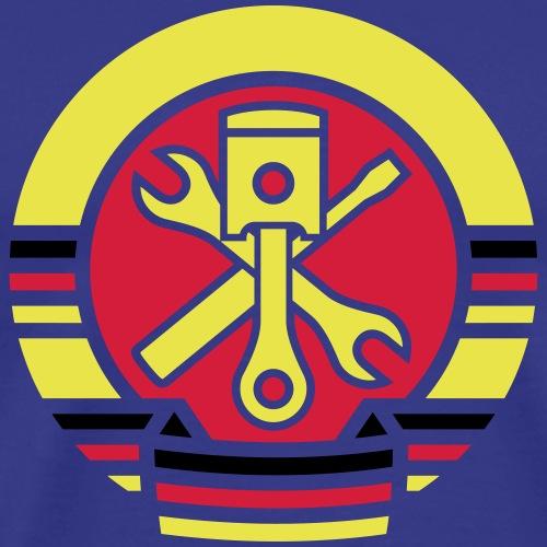 GDR car coat of arms 3c - Men's Premium T-Shirt