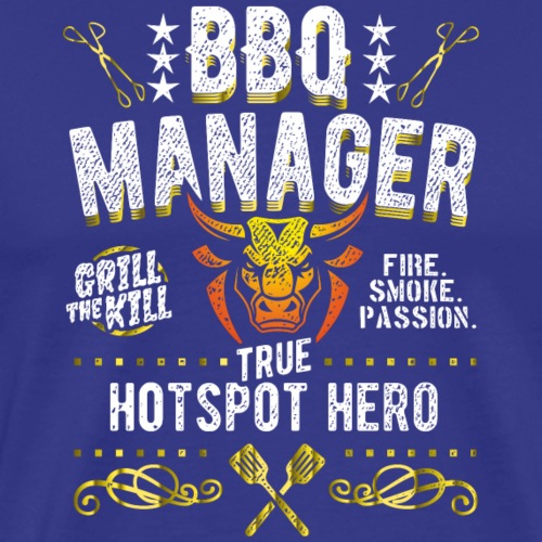 Geschenkidee: Grillshirt BBQ Manager - Männer Premium T-Shirt