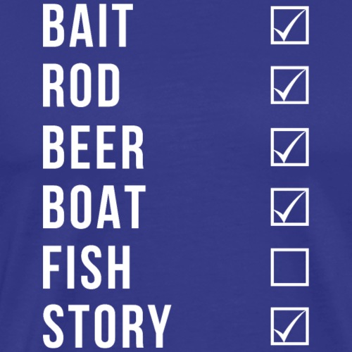 Fishing Checklist - Männer Premium T-Shirt