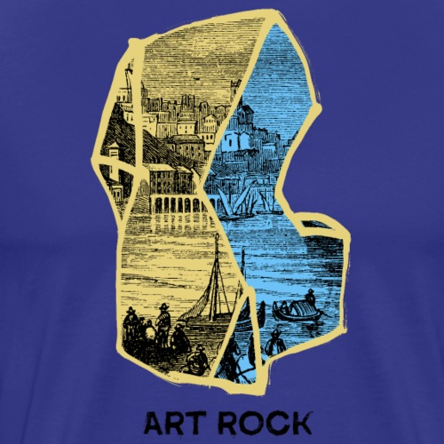 ART ROCK No 4 colour - Mannen Premium T-shirt
