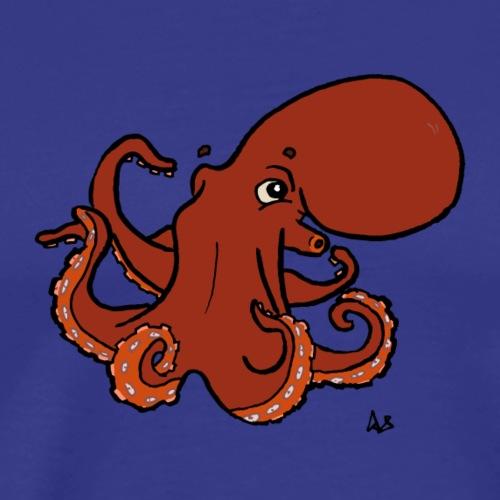 Jättiläinen Tyynenmeren mustekala - Miesten premium t-paita