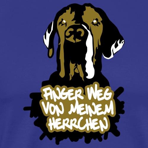 Finger weg von meinem Herrchen - Männer Premium T-Shirt