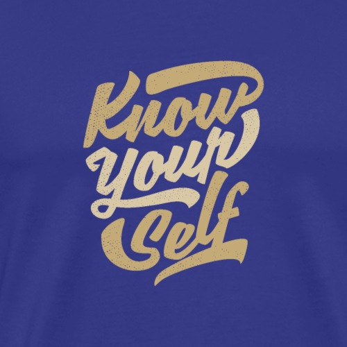 Erkenne dich selbst - Männer Premium T-Shirt