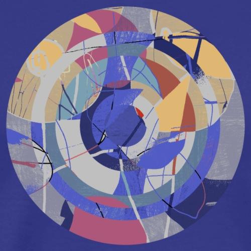 Circle design abstract colour 003 - Mannen Premium T-shirt