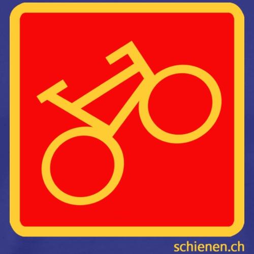 Schild «Velo», gelb auf rotem Grund - Männer Premium T-Shirt