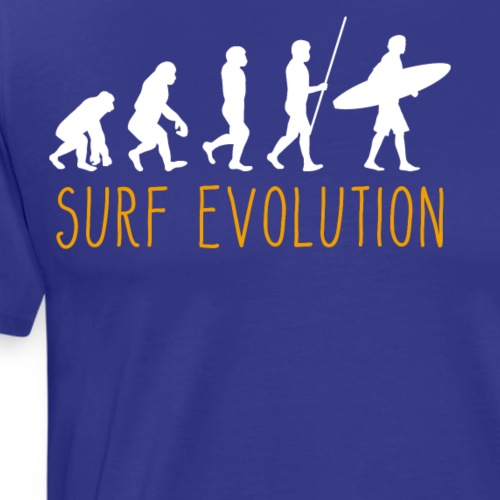 Evolution of Man Surfing - Männer Premium T-Shirt