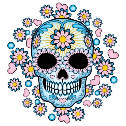 Colorful Sugar Skull - Men's Premium T-Shirt