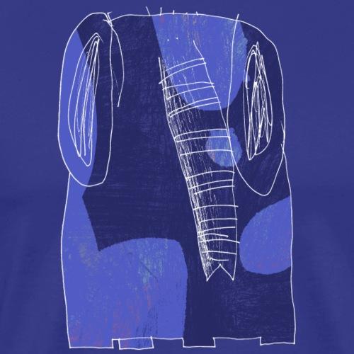 blue elephant - Mannen Premium T-shirt
