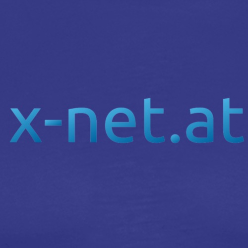 x netUrl blau version2 - Männer Premium T-Shirt