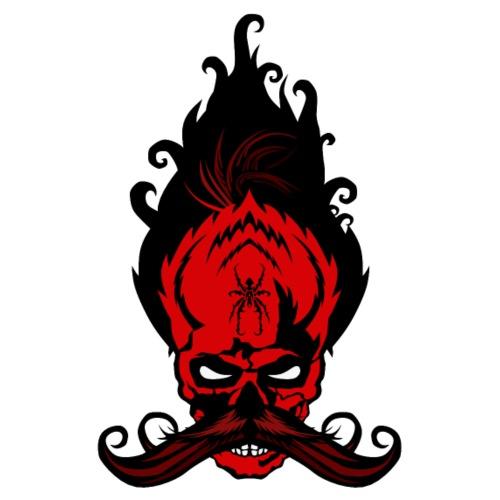 tete de mort hipster tribal diable crane moustache - T-shirt Premium Homme