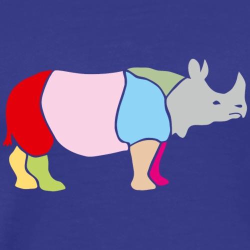 nashorn horn rhinozeros afrika tier wild serengeti - Männer Premium T-Shirt