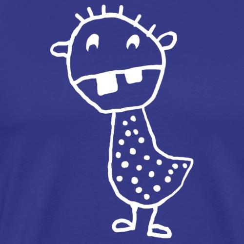 gepunktetes Zahnmonster - Männer Premium T-Shirt