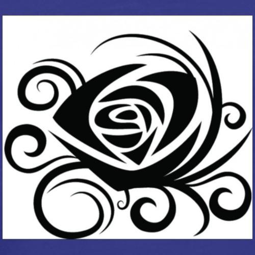 Rosa tattoo stilizzata - Maglietta Premium da uomo