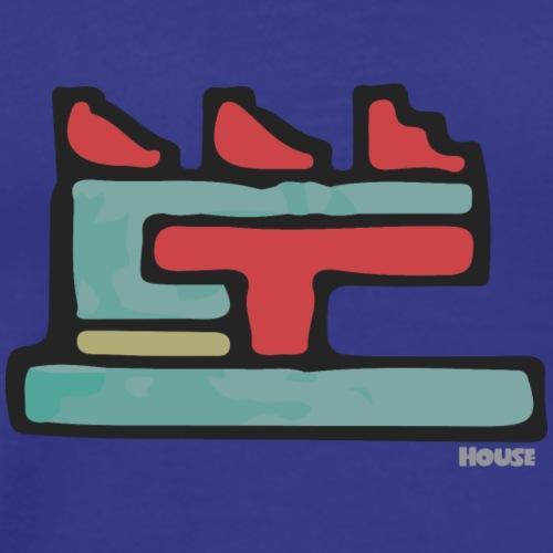 Aztec Icon House Night - Men's Premium T-Shirt