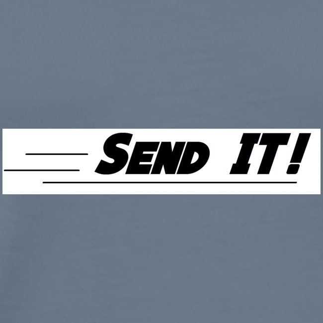 send it logo white
