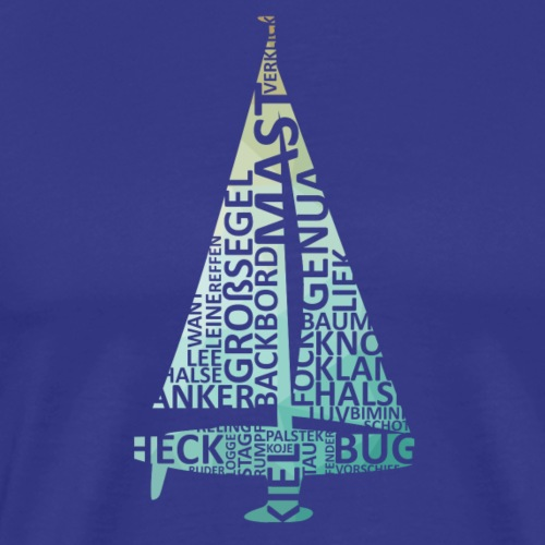 Segelyacht - Wortwolke - Männer Premium T-Shirt