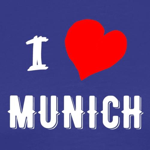 I Love Munich - Männer Premium T-Shirt
