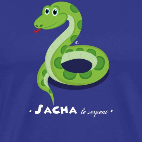 Sacha le serpent - T-shirt Premium Homme