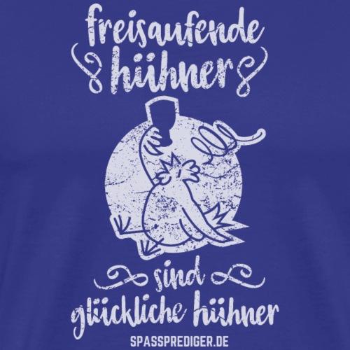 Freisaufende Hühner - Männer Premium T-Shirt