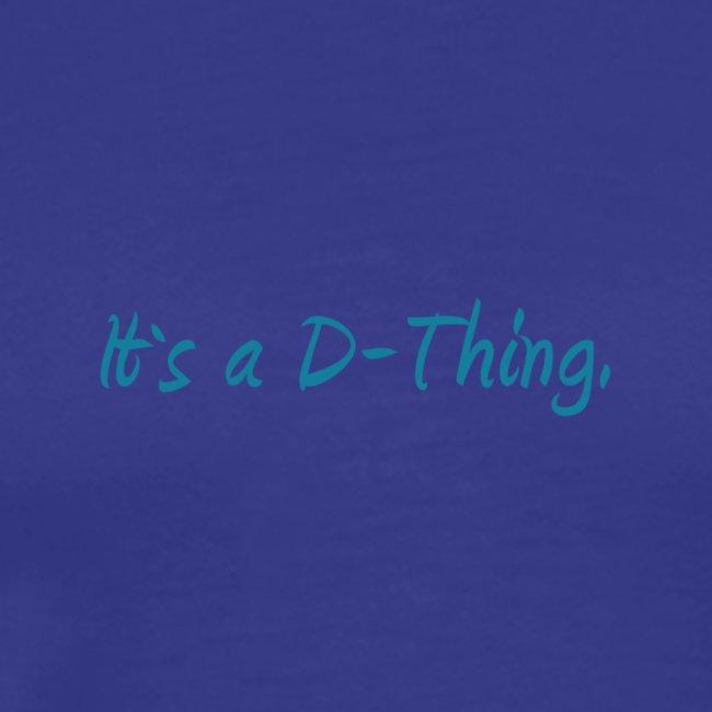 DTWear - It`s a D-Thing - Blue / Blauw